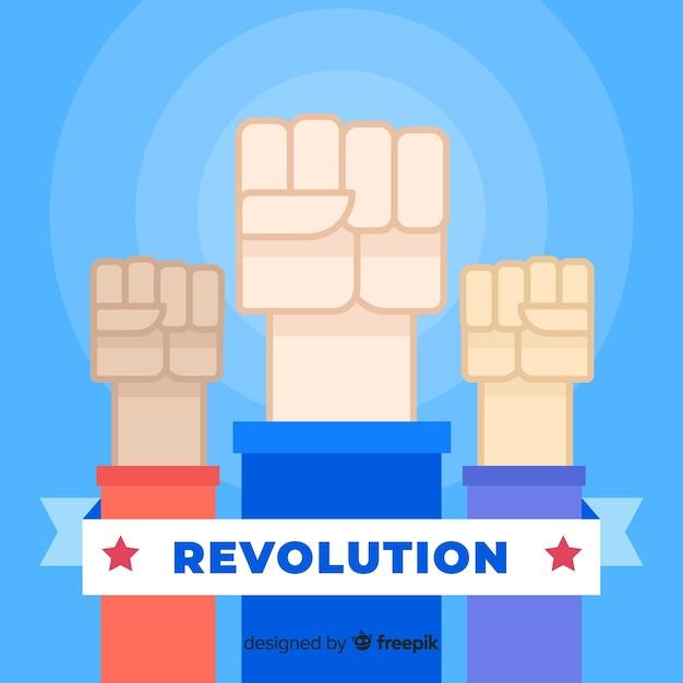 Poing levé pour la révolution Vecteur gratuit