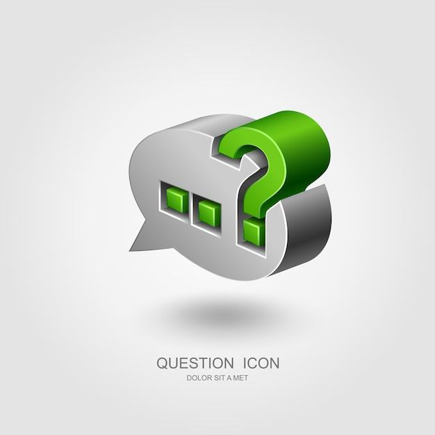 Point D'interrogation Dans La Bulle De Dialogue, Concept D'interrogation Vecteur Premium