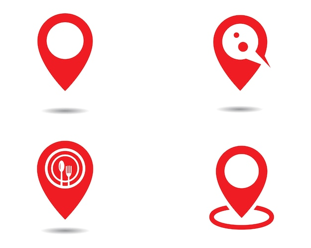 Point de localisation logo Vecteur Premium