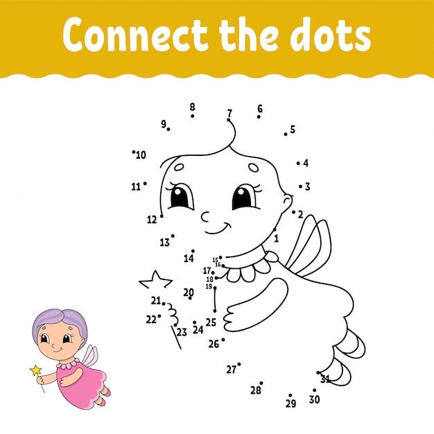 Point à Point. Tracer Une Ligne. Pratique De L'écriture Manuscrite. Numéros D'apprentissage Pour Les Enfants. Vecteur Premium