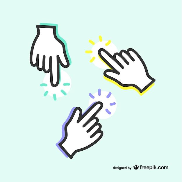Pointant Icon Mains Vecteur gratuit
