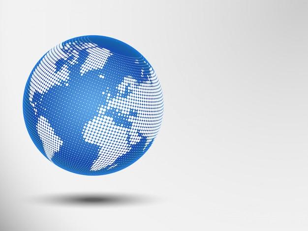 Points abstraits du globe. illustration vectorielle d'une carte du monde. eps 10 Vecteur Premium