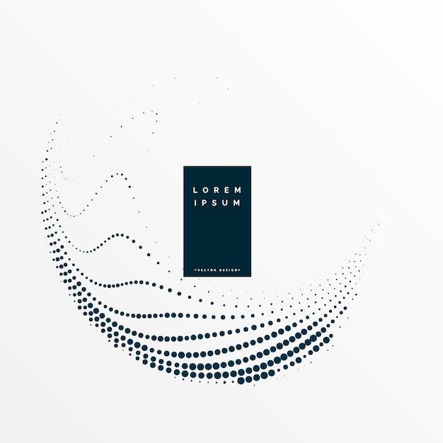 Points de demi-teintes élégant tourbillon de fond Vecteur gratuit