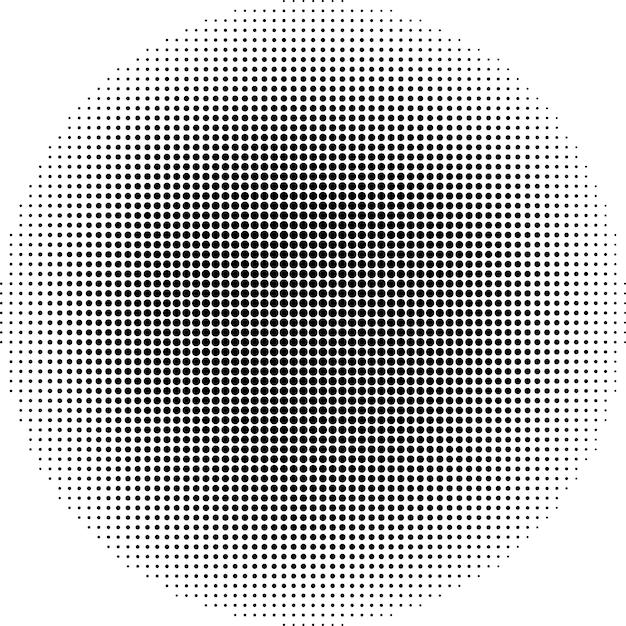 Points de demi-teintes de vecteur. cercle abstrait points vectoriels fond. eps 10 Vecteur Premium