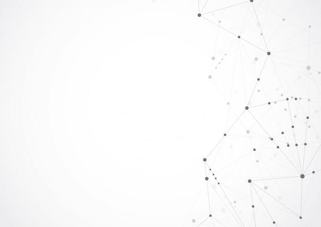 Points et lignes de connexion géométriques abstraites Vecteur Premium