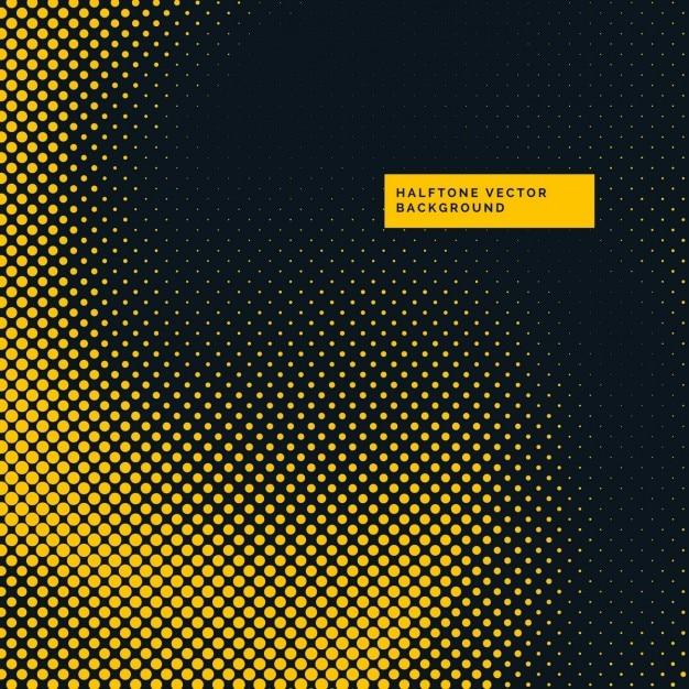 points de trame de fond jaune et noir