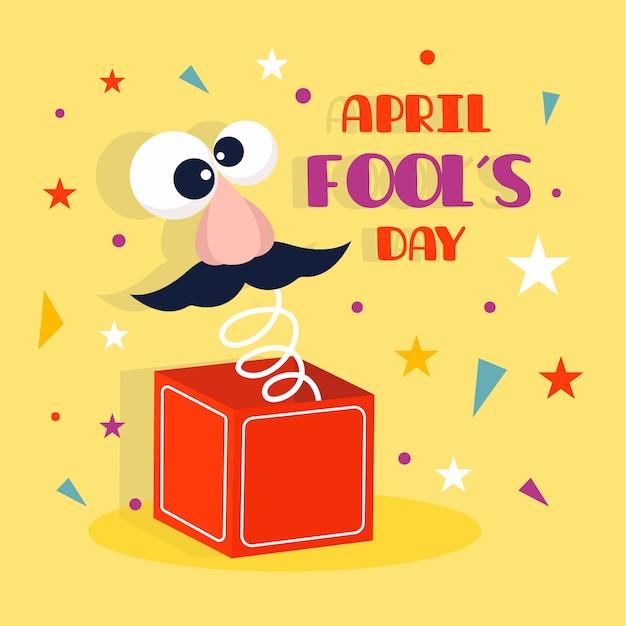 Poisson D'avril Au Design Plat Vecteur gratuit