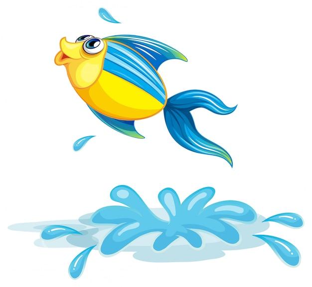 Un poisson à la mer Vecteur gratuit