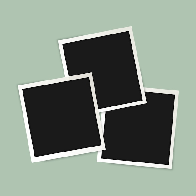 Polaroid cadres photo Vecteur gratuit