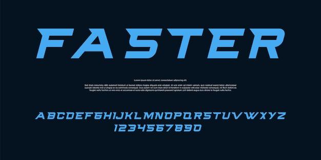 Police D'alphabet De Course Moderne Vecteur Premium