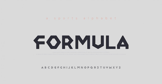 Police De L'alphabet Moderne Sport Vecteur Premium
