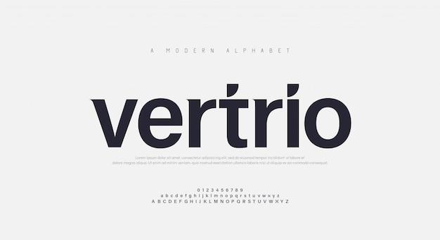 Police De L'alphabet Urbain Moderne Abstrait Vecteur Premium