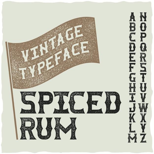 Police D'étiquette Fine De Whisky / Police Vintage Pour Boissons Alcoolisées Vecteur gratuit