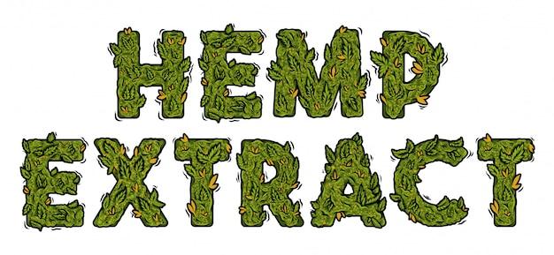 Police De Marijuana Verte Décorative Avec Un Design De Lettrage Isolé. Vecteur Premium