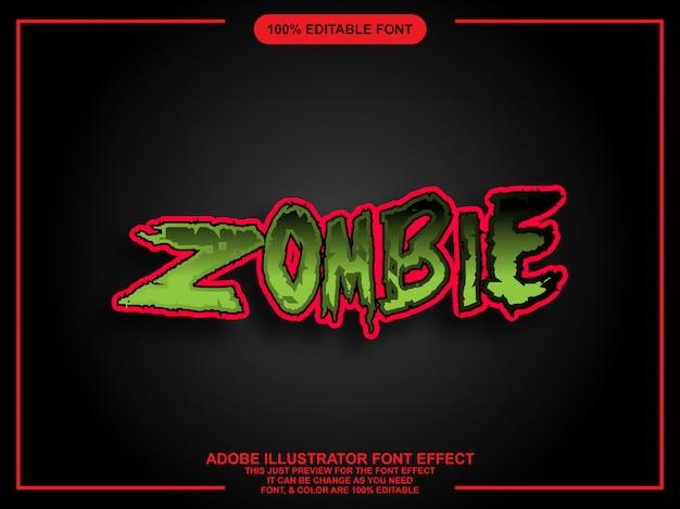 Police modifiable facile de style graphique gras zombie Vecteur Premium