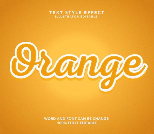 Police Orange Vecteur Premium