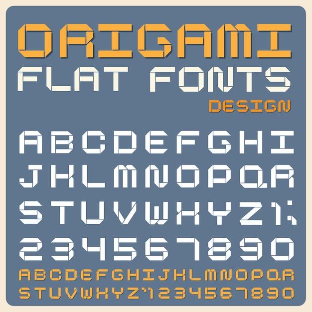 Police De Type Rétro, Typographie Vintage. Vecteur Premium