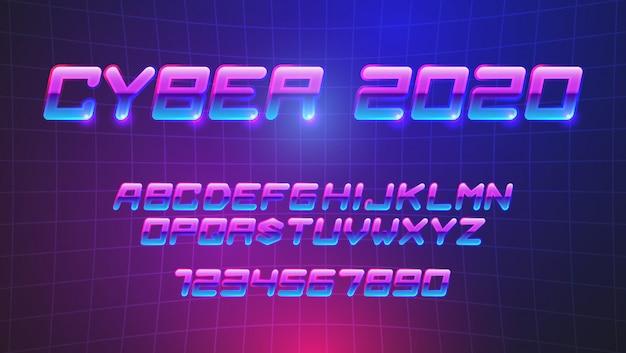 Polices Cyberpunk Futuristes Vecteur Premium
