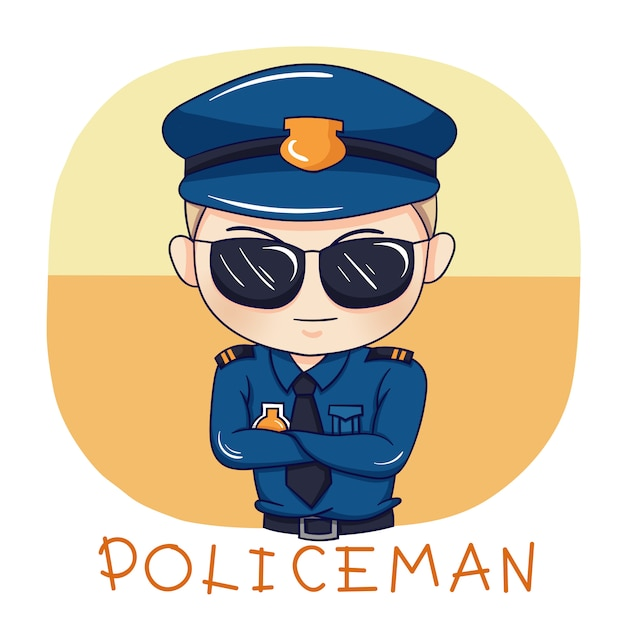 Policier Vecteur Premium