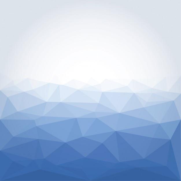 Poligonal bleu abstrait Vecteur gratuit