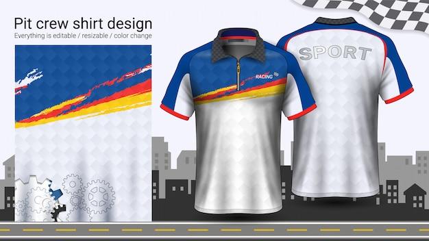 Polo t-shirt avec fermeture éclair Vecteur Premium