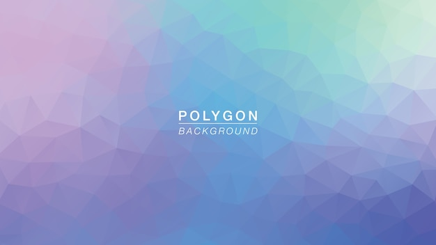 Polygon purple green glow Vecteur Premium