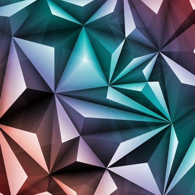 Polygone Abstrait Géométrique Triangle Multicolore Vecteur Premium