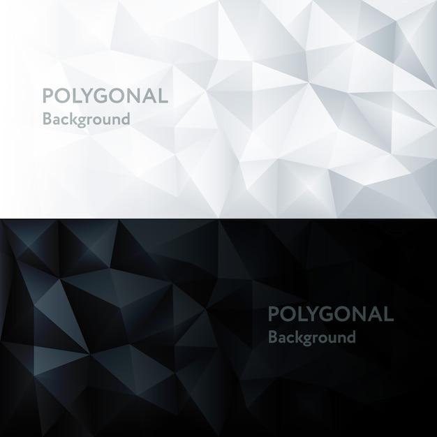 Polygone Abstrait Triangle Géométrique Polygonal Vecteur Premium