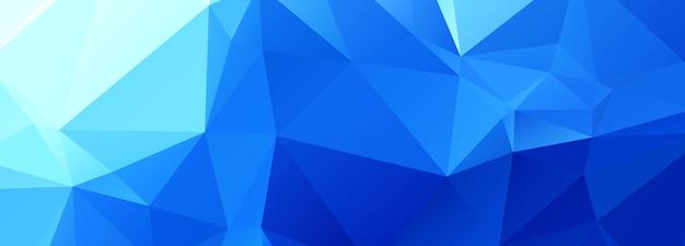 Polygone Bleu Abstrait Vecteur gratuit