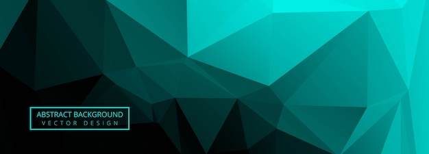 Polygone Vert Abstrait Vecteur gratuit