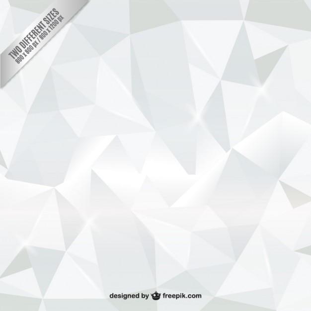 Polygones Fond Blanc Vecteur gratuit