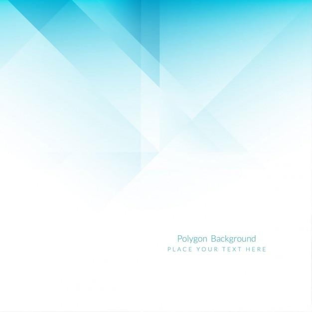 polygones Fond bleu Vecteur gratuit