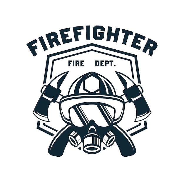 Pompier avec un espace de texte pour votre slogan Vecteur Premium
