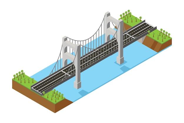 Pont isométrique Vecteur Premium