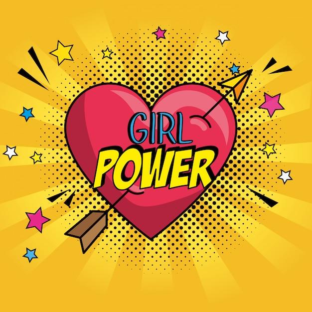 Pop Art Coeur Avec Flèche Et Message Vecteur gratuit