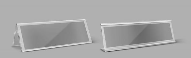Porte-cartes De Table En Plastique Transparent Vecteur gratuit