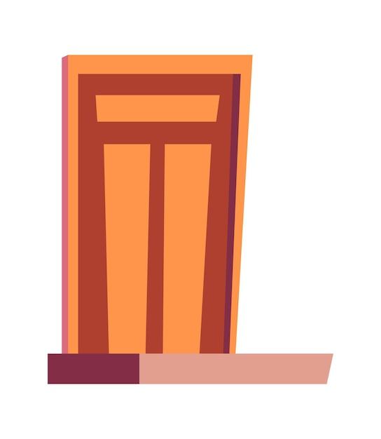 Porte D'entrée Et Porche, Entrée De Maisons Dessin Animé Illustration Vectorielle Isolé Vecteur gratuit