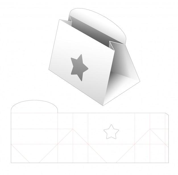 Porte-monnaie En Carton Avec Fenêtre étoile Modèle Découpé Vecteur Premium