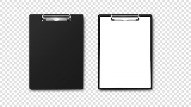 Porte-papier vide avec pile de papier a4. Vecteur Premium