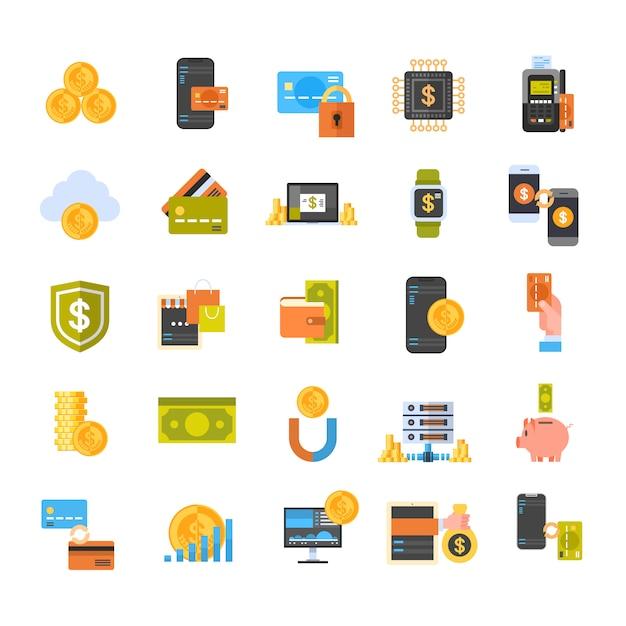 Portefeuille électronique et concept de paiement mobile Vecteur Premium