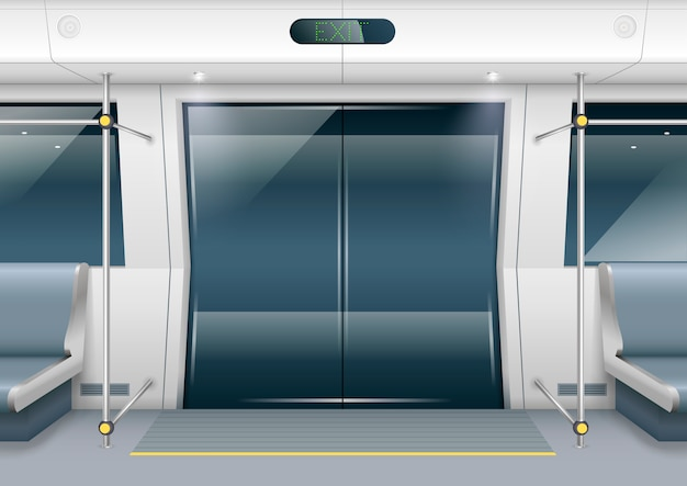 Portes de voiture de métro Vecteur Premium