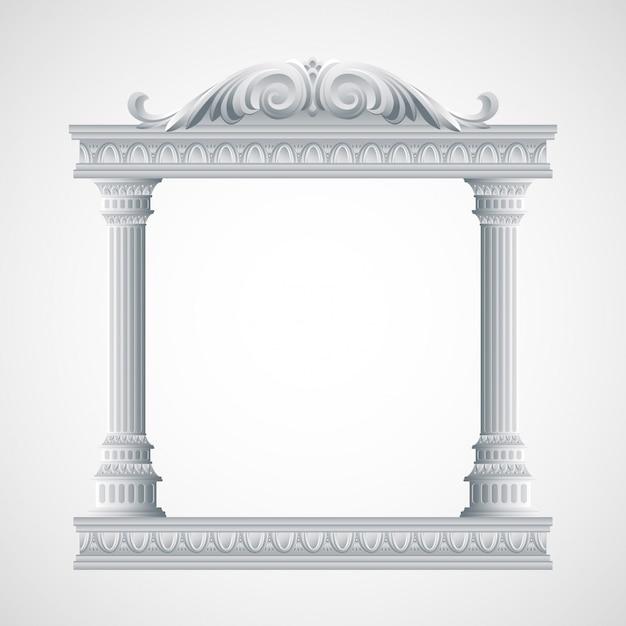Portique Un Ancien Temple. Illustration Des Colonnes Vecteur Premium