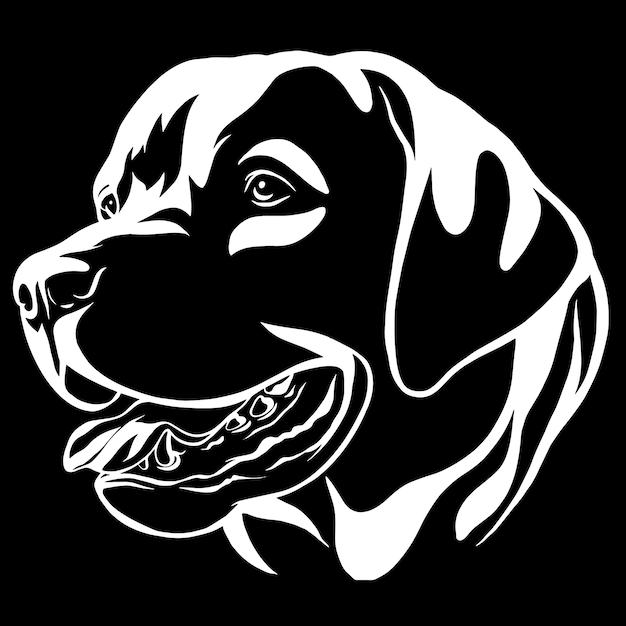 Portrait décoratif de chien labrador retriever, illustration vectorielle isolé Vecteur Premium