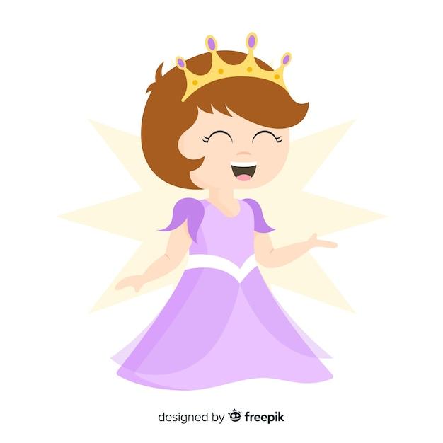 Portrait De Princesse Souriante Vecteur gratuit