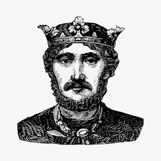 Portrait d'un roi Vecteur gratuit