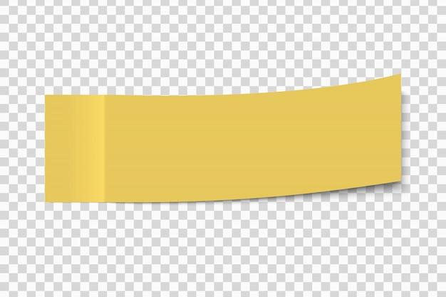 Post note autocollant collant avec peler hors coin isolé sur un fond transparent Vecteur Premium