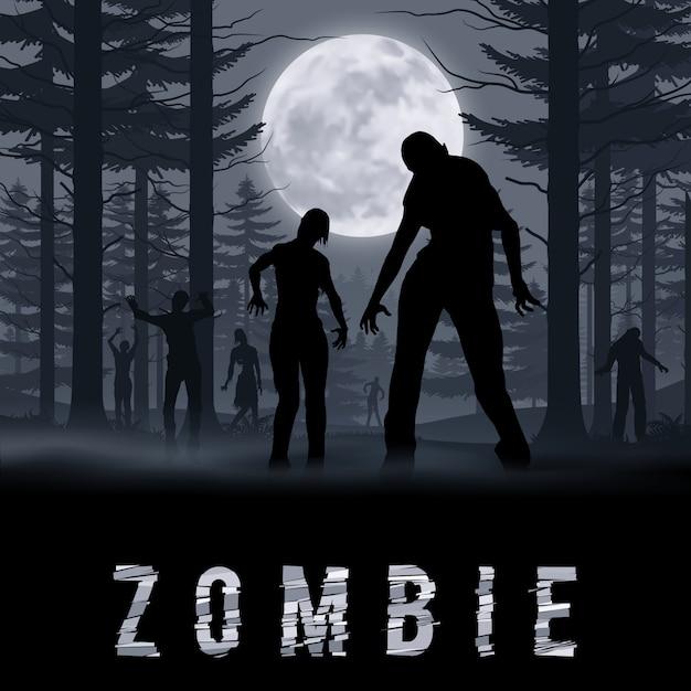 Poste De Zombie Vecteur Premium