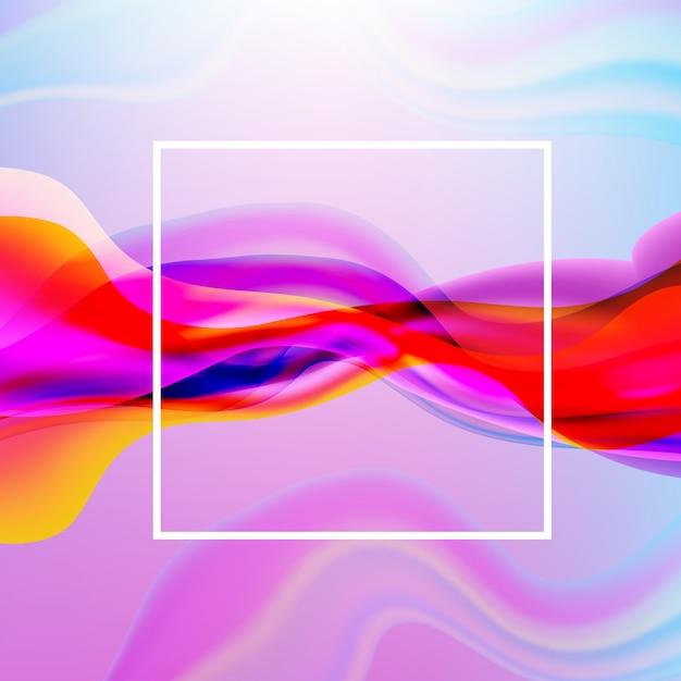 Poster coloré avec affiche en ligne Vecteur Premium