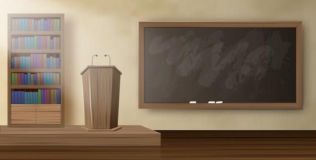 Poster Tribune Lecturer At University Realistic. Vecteur Premium