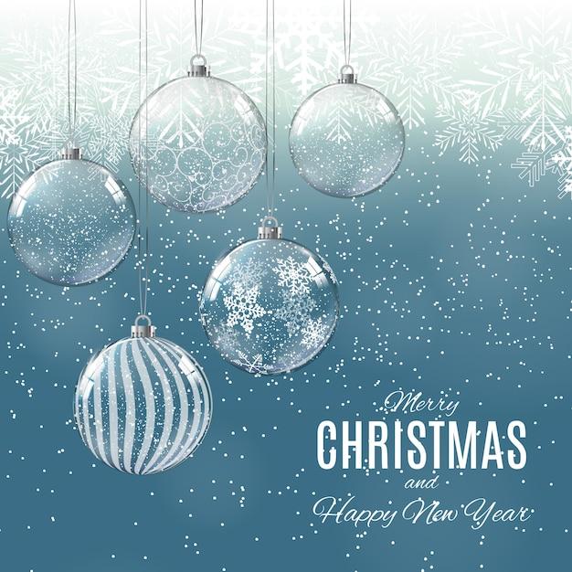Posters Joyeux Noël Et Bonne Année Vecteur Premium